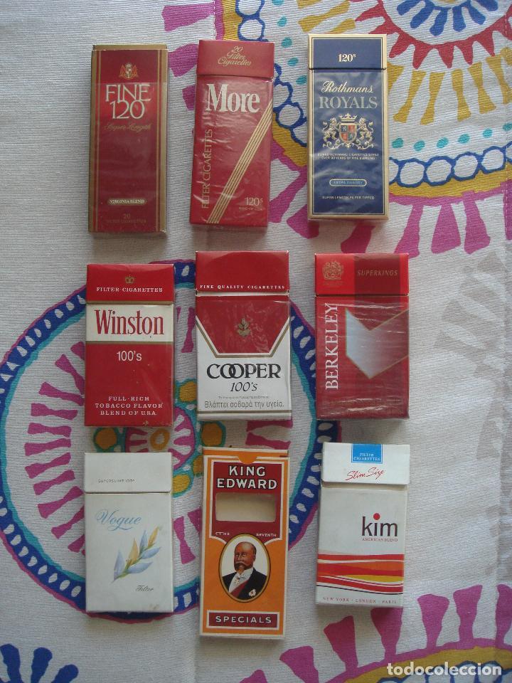 LOTE CAJETILLAS DE TABACO. (Coleccionismo - Objetos para Fumar - Paquetes de tabaco)