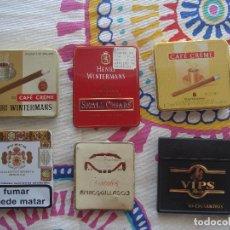 Paquetes de tabaco: LOTE CAJETILLAS METÁLICAS TABACO. Lote 107368383