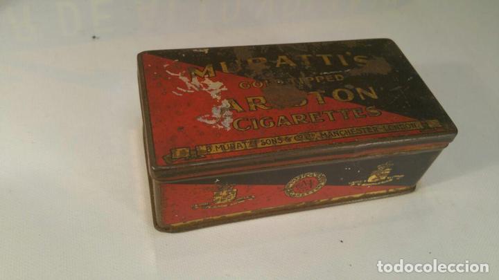 CAJA METALICA MURATTIS ARISTON GOLD TIPPED CIGARETTES (Coleccionismo - Objetos para Fumar - Paquetes de tabaco)