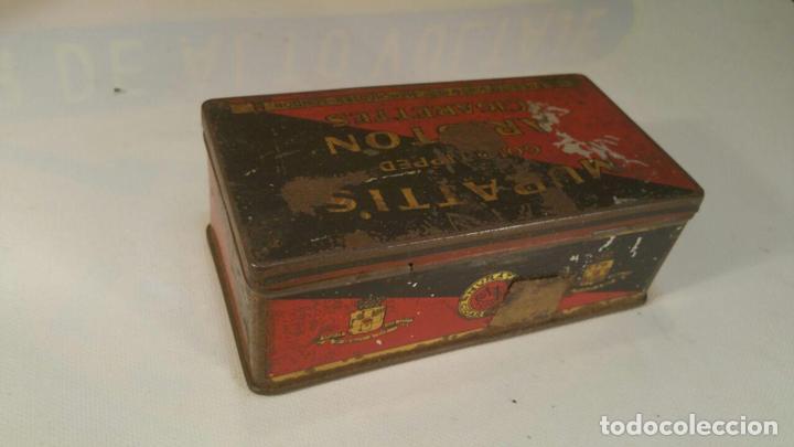 Paquetes de tabaco: CAJA METALICA MURATTIS ARISTON GOLD TIPPED CIGARETTES - Foto 2 - 107681947