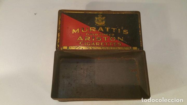Paquetes de tabaco: CAJA METALICA MURATTIS ARISTON GOLD TIPPED CIGARETTES - Foto 4 - 107681947