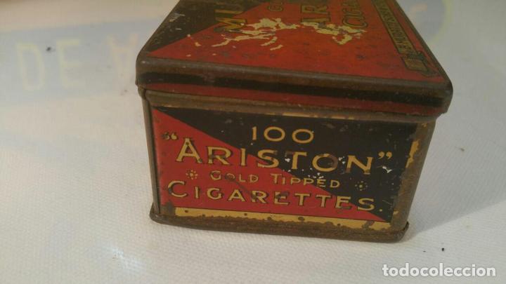 Paquetes de tabaco: CAJA METALICA MURATTIS ARISTON GOLD TIPPED CIGARETTES - Foto 5 - 107681947