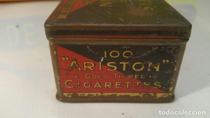 Paquetes de tabaco: CAJA METALICA MURATTIS ARISTON GOLD TIPPED CIGARETTES - Foto 6 - 107681947