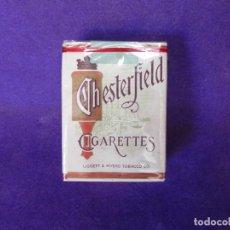 Paquetes de tabaco: PAQUETE DE TABACO AMERICANO CHESTERFIELD CAJETILLA CORTA. Lote 130943729