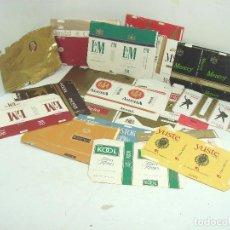 Paquetes de tabaco: COLECCION 20X PAQUETES TABACO RARO -PLANOS - VACIOS ¡¡VER FOTOS ¡¡ PAQUETE CIGARROS PITILLOS 2. Lote 108433987