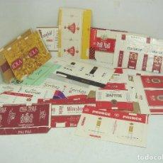 Paquetes de tabaco: COLECCION 20X PAQUETES TABACO RARO -PLANOS - VACIOS ¡¡VER FOTOS ¡¡ PAQUETE CIGARROS PITILLOS 3. Lote 108434415