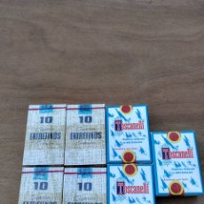 Paquetes de tabaco: SIETE PAQUETES ENTREFINOS Y TOSCANELLI TABACO. Lote 109064832