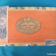Paquetes de tabaco: ANTIGUA CAJA DE PUROS HABANOS ROMEO Y JULIETA.. Lote 109417459