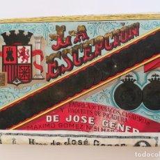 Paquetes de tabaco: PAQUETE TABACO PRENSADO LA ESCEPCIÓN DIBUJO PAPEL CON ESCUDO SEGUNDA REPÚBLICA ESPAÑOLA. Lote 109498807