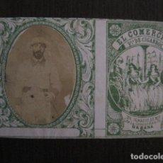 Paquetes de tabaco: MILITAR CUBA -MARQUILLA TABACO-EL COMERCIO- FABRICA DE CIGARROS-LA HABANA -VER FOTOS - (V- 13.235). Lote 109839919