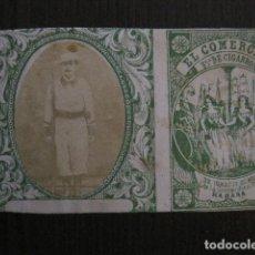 Paquetes de tabaco: MILITAR CUBA -MARQUILLA TABACO-EL COMERCIO- FABRICA DE CIGARROS-LA HABANA -VER FOTOS - (V- 13.236). Lote 109840179