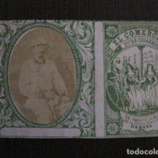 Paquetes de tabaco: MILITAR CUBA -MARQUILLA TABACO-EL COMERCIO- FABRICA DE CIGARROS-LA HABANA -VER FOTOS - (V- 13.237). Lote 109840243