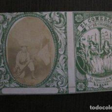 Paquetes de tabaco: MILITAR CUBA -MARQUILLA TABACO-EL COMERCIO- FABRICA DE CIGARROS-LA HABANA -VER FOTOS - (V- 13.238). Lote 109840503