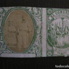 Paquetes de tabaco: MILITAR CUBA -MARQUILLA TABACO-EL COMERCIO- FABRICA DE CIGARROS-LA HABANA -VER FOTOS - (V- 13.239). Lote 109842083