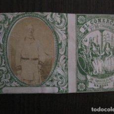 Paquetes de tabaco: MILITAR CUBA -MARQUILLA TABACO-EL COMERCIO- FABRICA DE CIGARROS-LA HABANA -VER FOTOS - (V- 13.241). Lote 109842411