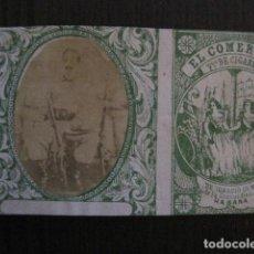 Paquetes de tabaco: MILITAR CUBA -MARQUILLA TABACO-EL COMERCIO- FABRICA DE CIGARROS-LA HABANA -VER FOTOS - (V- 13.242). Lote 109843739