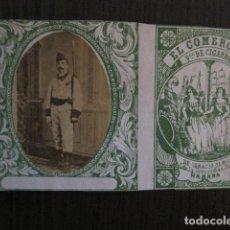 Paquetes de tabaco: MILITAR CUBA -MARQUILLA TABACO-EL COMERCIO- FABRICA DE CIGARROS-LA HABANA -VER FOTOS - (V- 13.243). Lote 109844183