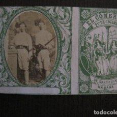 Paquetes de tabaco: MILITAR CUBA -MARQUILLA TABACO-EL COMERCIO- FABRICA DE CIGARROS-LA HABANA -VER FOTOS - (V- 13.244). Lote 109844427
