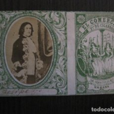 Paquetes de tabaco: MILITAR CUBA -MARQUILLA TABACO-EL COMERCIO- FABRICA DE CIGARROS-LA HABANA -VER FOTOS - (V- 13.249). Lote 109847547