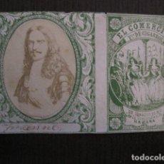 Paquetes de tabaco: MILITAR CUBA -MARQUILLA TABACO-EL COMERCIO- FABRICA DE CIGARROS-LA HABANA -VER FOTOS - (V- 13.250). Lote 109848031