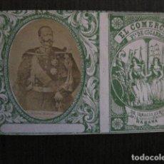 Paquetes de tabaco: MILITAR CUBA -MARQUILLA TABACO-EL COMERCIO- FABRICA DE CIGARROS-LA HABANA -VER FOTOS - (V- 13.251). Lote 109849019