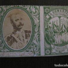 Paquetes de tabaco: MILITAR CUBA -MARQUILLA TABACO-EL COMERCIO- FABRICA DE CIGARROS-LA HABANA -VER FOTOS - (V- 13.252). Lote 109849423