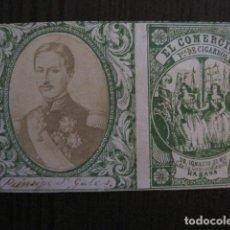 Paquetes de tabaco: MILITAR CUBA -MARQUILLA TABACO-EL COMERCIO- FABRICA DE CIGARROS-LA HABANA -VER FOTOS - (V- 13.253). Lote 109849583
