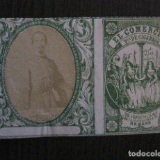 Paquetes de tabaco: MILITAR CUBA -MARQUILLA TABACO-EL COMERCIO- FABRICA DE CIGARROS-LA HABANA -VER FOTOS - (V- 13.254). Lote 109852563