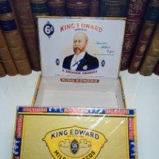 Paquetes de tabaco: INTERESANTE LOTE COMPUESTO POR DOS CAJAS DE PUROS KING EDWARD - 50 PUROS NUEVA PRECINTADA,OTRA VACIA. Lote 109899067