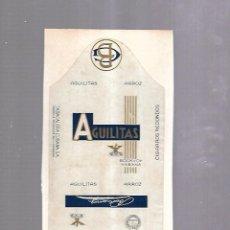 Paquetes de tabaco: CUBA. PAQUETE DE TABACO. AÑOS 20. CIGARROS AGUILITAS ARROZ. Lote 110530911