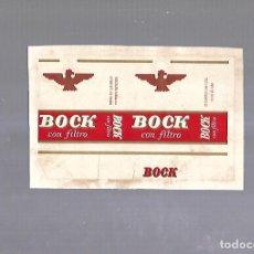 Paquetes de tabaco: CUBA. PAQUETE DE TABACO. AÑOS 20. CIGARROS BOCK Y CIA. BOCK CON FILTRO. Lote 110531359