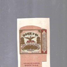 Paquetes de tabaco: CUBA. PAQUETE DE TABACO. AÑOS 20. CIGARROS BOCK Y CIA. OVALADOS. Lote 110531387