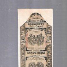 Paquetes de tabaco: CUBA. PAQUETE DE TABACO. AÑOS 20. CIGARROS LA LEGITIMIDAD. ARROZ HEBRA. Lote 110532147
