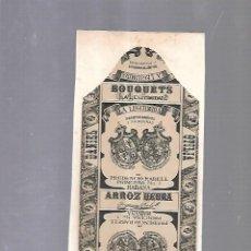 Paquetes de tabaco: CUBA. PAQUETE DE TABACO. AÑOS 20. CIGARROS LA LEGITIMIDAD. ARROZ HEBRA. Lote 110532163