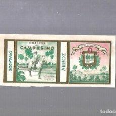 Paquetes de tabaco: CUBA. PAQUETE DE TABACO. AÑOS 20. CIGARROS EL CAMPESINO. OVALADOS. Lote 110532267