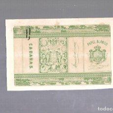 Paquetes de tabaco: CUBA. PAQUETE DE TABACO. AÑOS 20. CIGARROS PAPEL BLANCO. CABAÑAS. Lote 110533047
