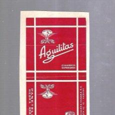 Paquetes de tabaco: CUBA. PAQUETE DE TABACO. AÑOS 20. CIGARROS AGUILITAS. PANETELAS. Lote 110533283