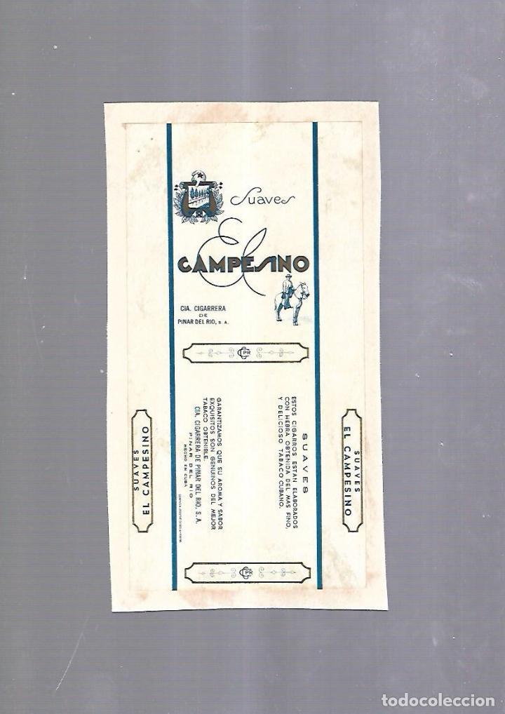 CUBA. PAQUETE DE TABACO. AÑOS 20. CIGARROS EL CAMPESINO. SUAVES (Coleccionismo - Objetos para Fumar - Paquetes de tabaco)