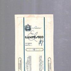 Paquetes de tabaco: CUBA. PAQUETE DE TABACO. AÑOS 20. CIGARROS EL CAMPESINO. SUAVES. Lote 110533303
