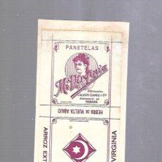 Paquetes de tabaco: CUBA. PAQUETE DE TABACO. AÑOS 20. CIGARROS MI VIRGINIA. PANETELAS. Lote 110533423