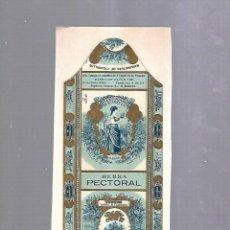 Paquetes de tabaco: CUBA. PAQUETE DE TABACO. AÑOS 20. CIGARROS LA FLOR JOSE SUAREZ MURIAS. HEBRA PECTORAL. Lote 110533511