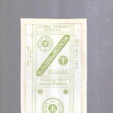 Paquetes de tabaco: CUBA. PAQUETE DE TABACO. AÑOS 20. CIGARROS EL CIGARRO DE DISTINCION. HEBRA TRIGO. Lote 110533551