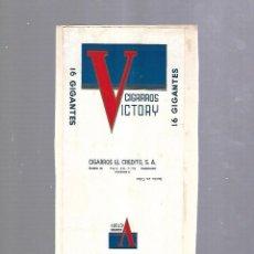 Paquetes de tabaco: CUBA. PAQUETE DE TABACO. AÑOS 20. CIGARROS VICTORY. GIGANTES. Lote 110533631