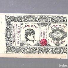 Paquetes de tabaco: CUBA. PAQUETE DE TABACO. AÑOS 20. CIGARROS LA CREMA DE CUBA. BOUQUETS. Lote 110533823