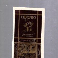 Paquetes de tabaco: CUBA. PAQUETE DE TABACO. AÑOS 20. CIGARROS LIBORIO. ESPECIALES. Lote 110533975