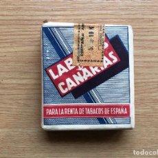 Paquetes de tabaco: ANTIGUO PAQUETE DE TABACO LABORES DE CANARIAS, 16 POPULARES. Lote 111851588