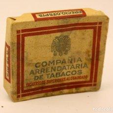 Paquetes de tabaco: PAQUETE TABACO - COMPAÑÍA ARRENDATARIA DE TABACOS - 20 CIGARRILLOS - SIN ABRIR - L2. Lote 110928351