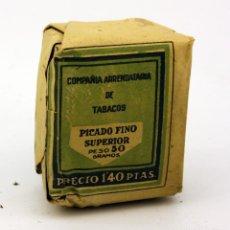 Paquetes de tabaco: PAQUETE TABACO PICADO FINO SUPERIOR - COMPAÑÍA ARRENDATARIA DE TABACOS - 50 GRS - SIN ABRIR - L6. Lote 110928659