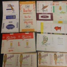 Paquetes de tabaco: 9 CAJETILLAS DE TABACO PAQUETE ANTIGUAS. Lote 111161200