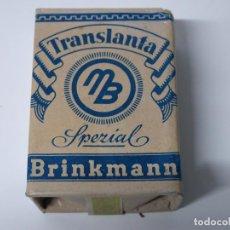 Maços de tabaco: ALEMANIA SEGUNDA GUERRA MUNDIAL PAQUETE PICADURA DE TABACO TRANSLANTA BRINKMANN SIN ABRIR ORIGINAL.. Lote 112265707